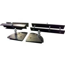 Кронштейны для газлифтов (Уголок с накладкой, дугообразный кронштейн и крепеж) на 1 газлифт